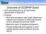 overview of ccdphp grant