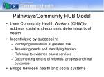 pathways community hub model