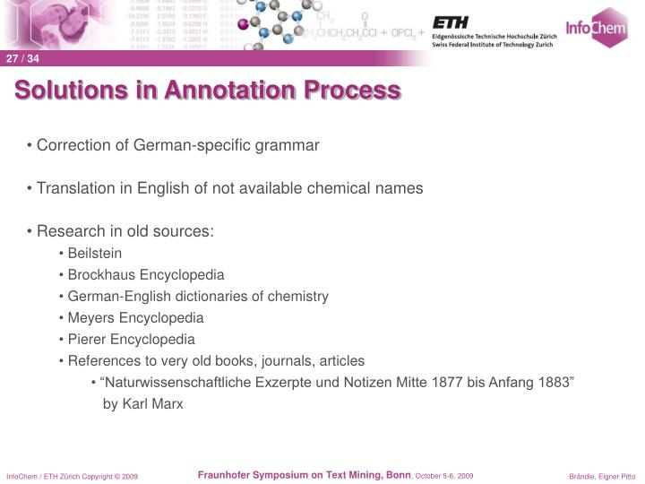Solutions in Annotation Process