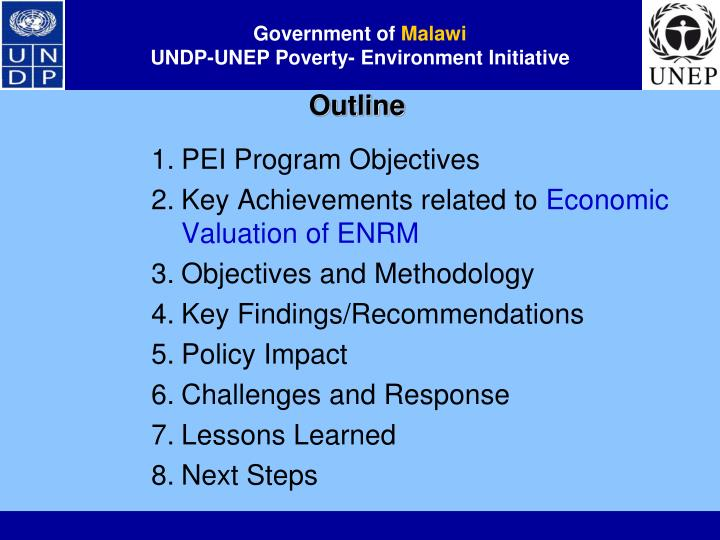 Government of malawi undp unep poverty environment initiative