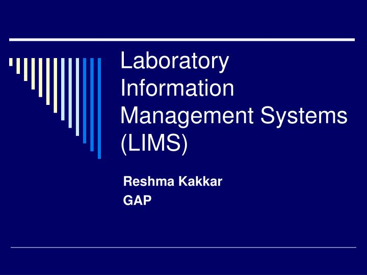 Ppt Laboratory Information Management Systems Lims