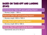 based on take off and landing icao