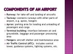 components of an airport