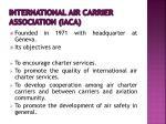 international air carrier association iaca