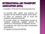 international air transport association iata