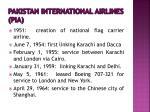 pakistan international airlines pia