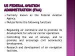 us federal aviation administration faa
