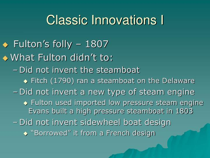 Classic Innovations I