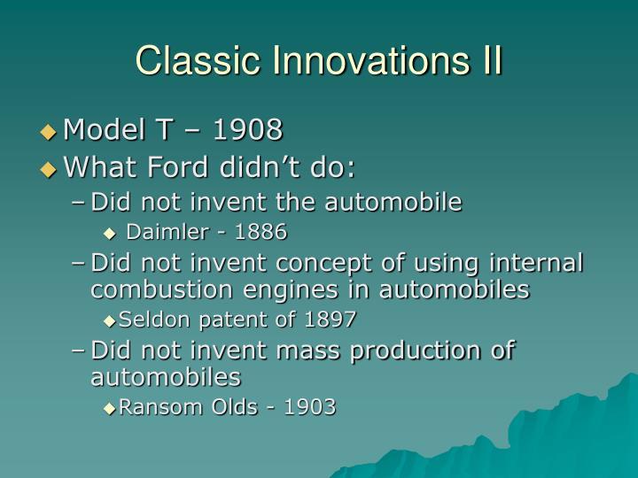Classic Innovations II