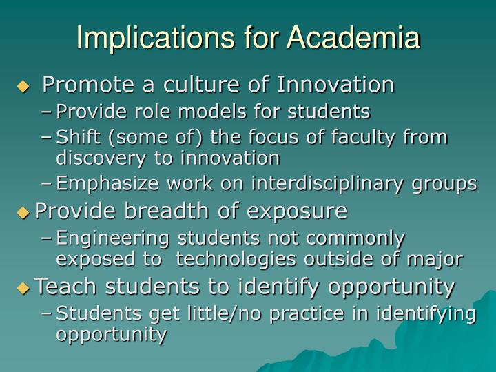 Implications for Academia