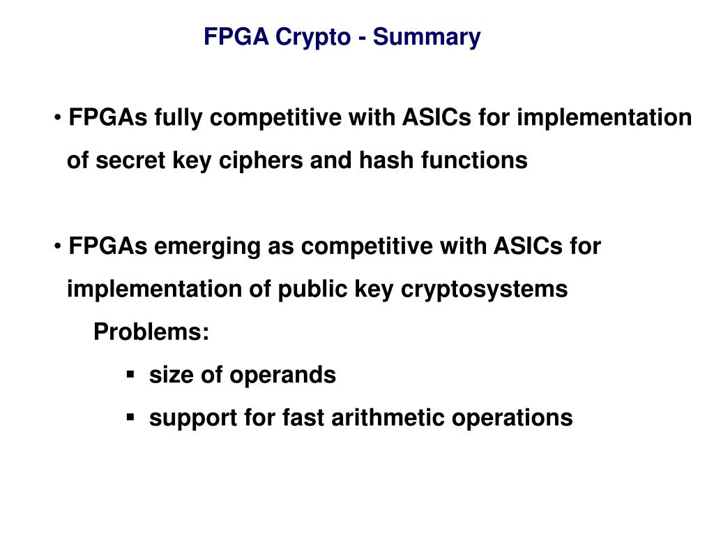 PPT - FPGA & Crypto: Is Marriage in the Cards? PowerPoint