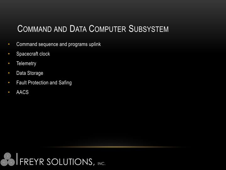Command and Data Computer Subsystem