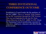 third invitational conference outcome