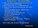 summary beyond pbl