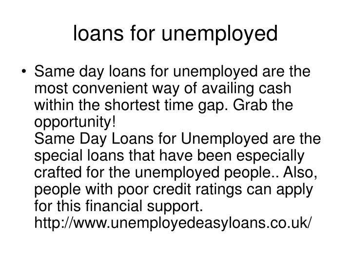 same day loans for unemployed - 2