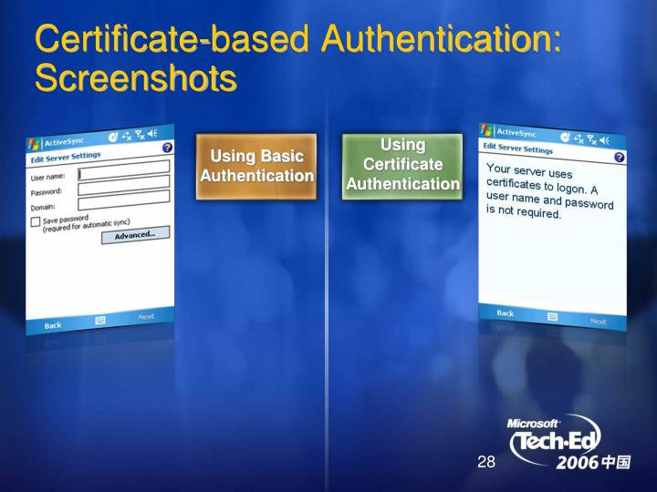 Using Certificate Authentication