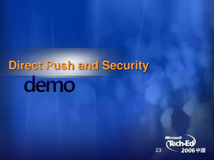 Direct Push and Security