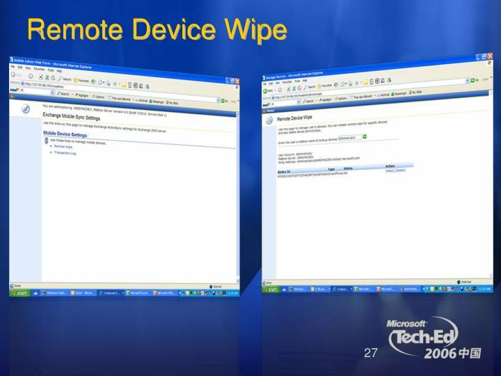 Remote Device Wipe