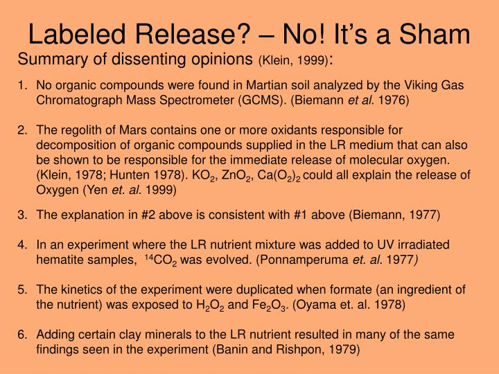 Labeled Release? – No! It's a Sham