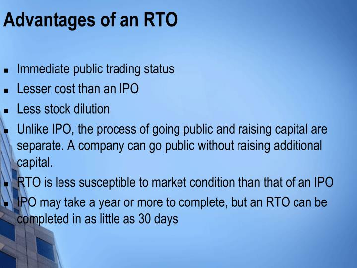 Advantages of an RTO