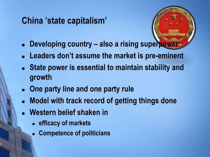 China 'state capitalism'
