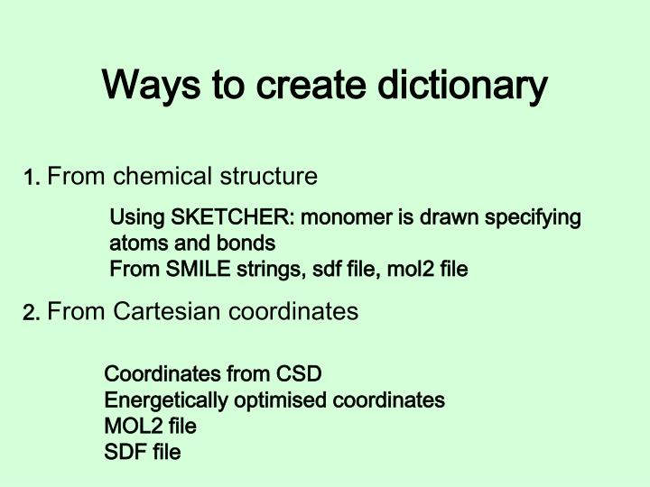 Ways to create dictionary