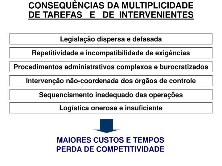 CONSEQUÊNCIAS DA MULTIPLICIDADE