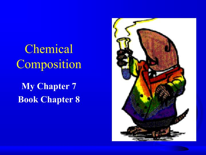 chemical composition n.