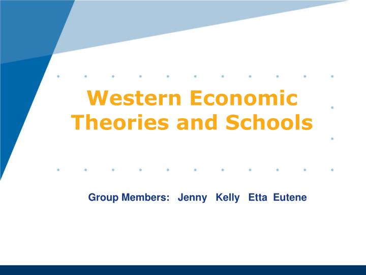 western economic theories and schools n.