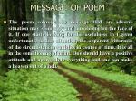 message of poem