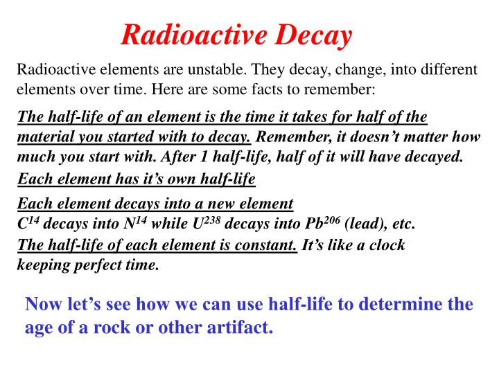 20 facts about radioactive dating powerpoint