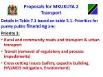 proposals for mkukuta 2 transport