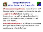 transport links with other sectors and poverty 1
