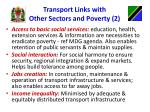 transport links with other sectors and poverty 2
