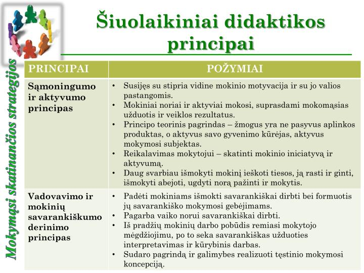 Iuolaikiniai didaktikos principai2
