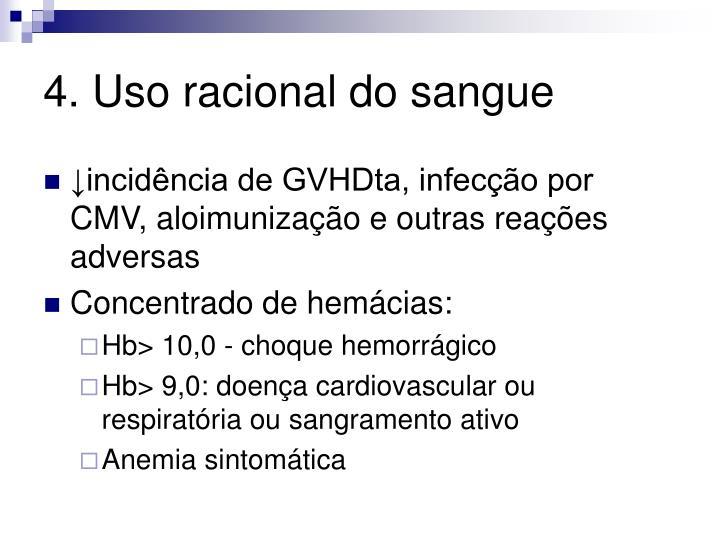 4. Uso racional do sangue