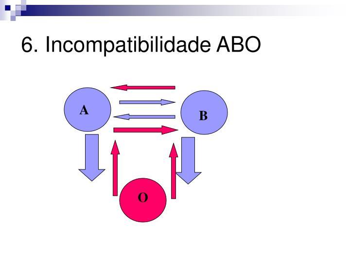 6. Incompatibilidade ABO