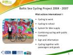 baltic sea cycling project 2004 20071