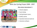 baltic sea cycling project 2004 20072