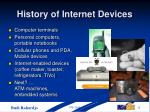 history of internet devices