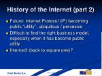 history of the internet part 2
