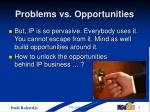 problems vs opportunities