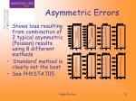 asymmetric errors