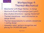 workpackage 4 thermal mechanical