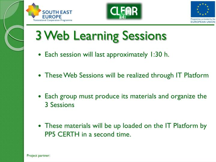 3 Web Learning Sessions