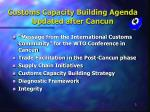 customs capacity building agenda updated after cancun