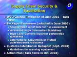 supply chain security facilitation