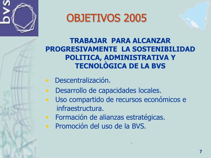 OBJETIVOS 2005