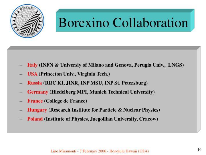 Borexino Collaboration