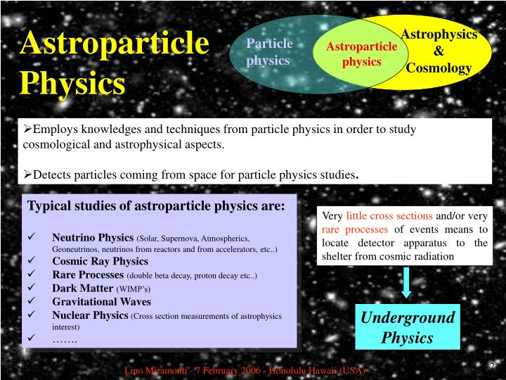 Astroparticle